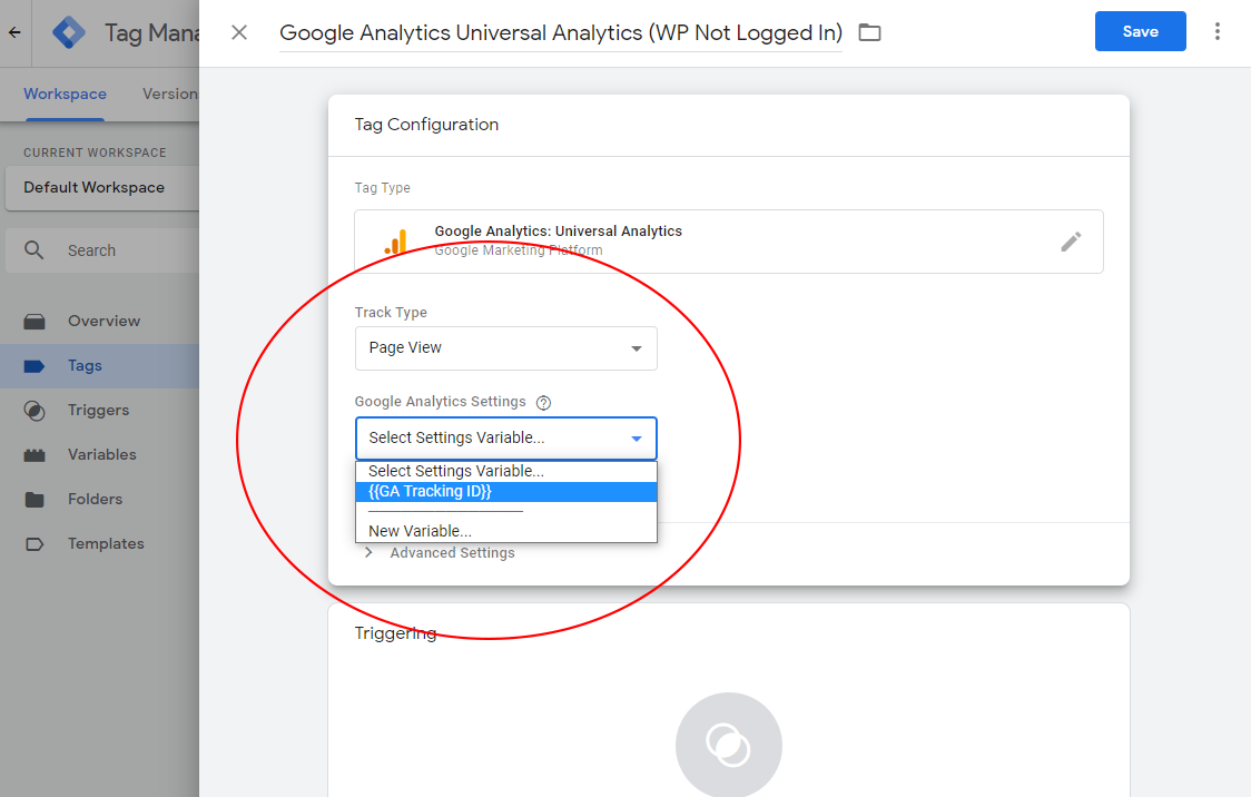 Configuring Your Google Analytics Universal Analytics Tag